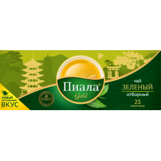 Чай зеленый Пиала Gold отборный 25 пакетиков